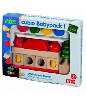 Деревянный конструктор для детей, 20 эл, nic cubio