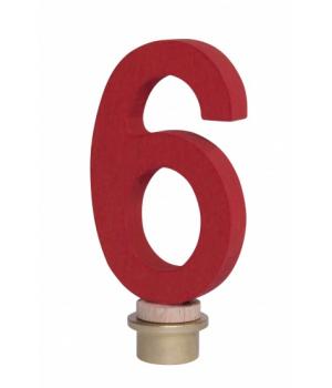 Цифра для торта 6, деревянная, nic