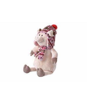 Мягкая игрушка свинка в шапке 38 см Same Toy