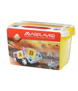 Магнитный конструктор в боксе, 81 деталь, MagPlayer