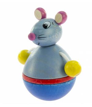 Игрушка деревянная неваляшка Мышка, NIC