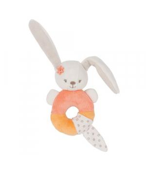 Погремушка с кольцом внутри, Кролик, Nattou