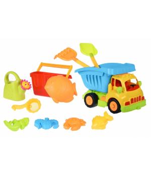 Детские игрушки для песочницы с машинкой 43см, Same Toy