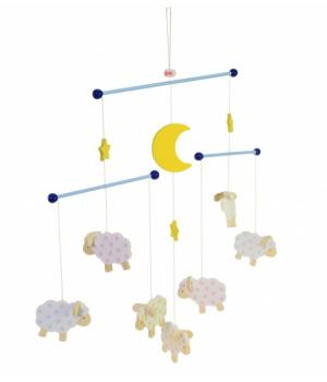 Мобиль на кроватку для новорожденных, Овечки, Goki