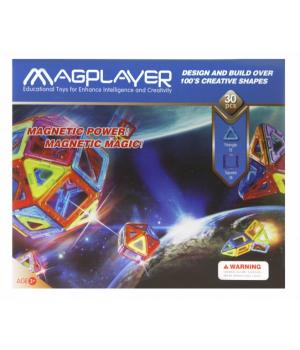 Магнитный конструктор геометрические фигуры 30 элементов, MagPlayer