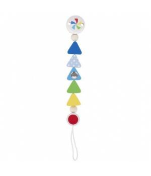 Деревянный держатель для пустышки с петлей, Треугольники, Heimess