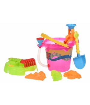 Набор для песочницы - Ведерко розовое с душем для воды, Same Toy