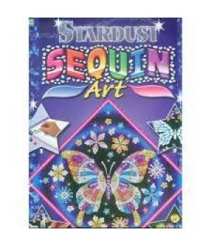Картина пайетками для детей набор для детского творчества Бабочка Sequin Art