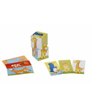 Кубики деревянные для детей, Животные, goki