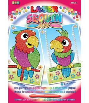 Картины из блесток для детей набор для детского творчества Попугаи Sequin Art
