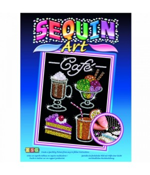 Картина из блесток набор для творчества Кафе, Sequin Art Набір