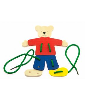 Шнуровка для самых маленьких, Медвежонок, Goki