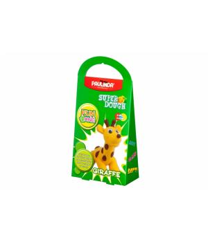 Детская масса для лепки Super Dough Fun4one Жираф (подвижные глазки), PAULINDA