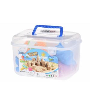 Кинетический песок для детей, с формочками, розовый, Джунгли, Same Toy