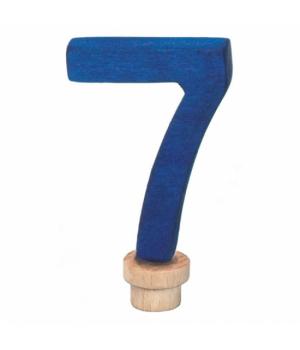 Цифра для торта 7, деревянная, nic