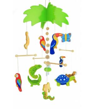 Мобиль на детскую кроватку для новорожденных, Пальма, Goki
