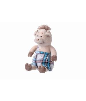 Мягкая игрушка поросенок в комбинезоне (18 см) Same Toy