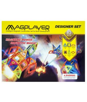 Магнитный конструктор геометрические фигуры, 83 шт, MagPlayer