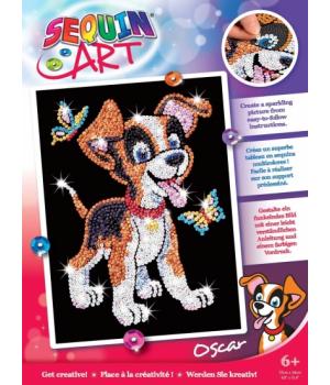 Картина пайетками для детей набор для детского творчества Щенок Sequin Art