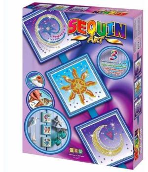 Картина из пайеток для детей набор для детского творчества Cosmic,Sun,Moon and Stars Sequin Art