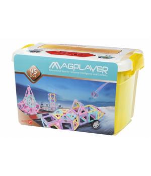 Магнитный конструктор в контейнере, 95 деталей, MagPlayer