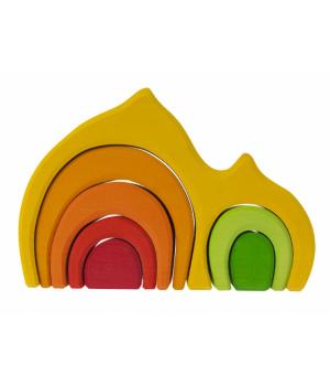 nic Конструктор дерев'яний - Будинок Габлі (жовтий)
