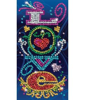 Картина из пайеток набор для творчества Craft Teen Love Sequin Art