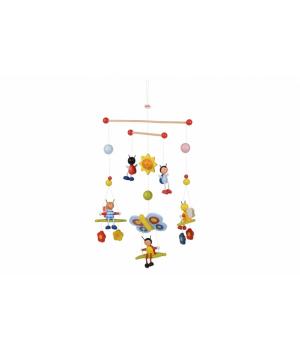 Мобиль на кроватку для новорожденных, Пчелы и Жуки, Goki