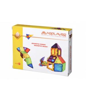 Магнитный конструктор геометрические фигуры, 32 детали, MagPlayer