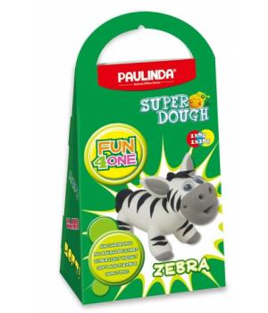 Детская масса для лепки Super Dough Fun4one Зебра (подвижные глазки), PAULINDA