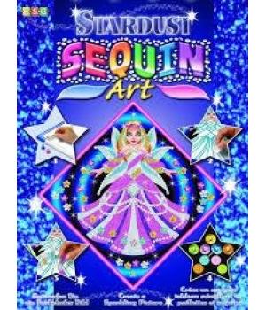 Картина пайетками для детей набор для детского творчества Принцесса Sequin Art