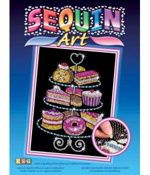 Аппликация пайетками набор для детского творчества Пирожные Sequin Art