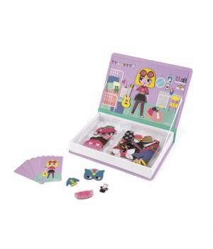 Магнитная книга игра одежда для девочек, Janod