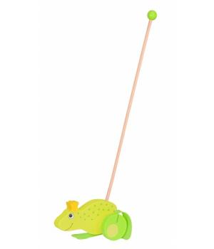 Игрушка каталка с ручкой, Жабка, Goki