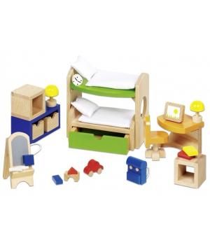 goki Набір для ляльок Меблі для дитячої кімнати