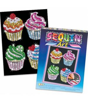 Картина блестками набор для творчества Капкейки Sequin Art