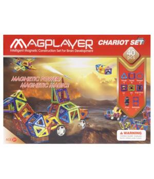 Магнитный конструктор машина, 40 деталей, MagPlayer
