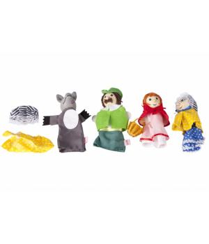 goki Набір ляльок для пальчикового театру - Червона Шапочка