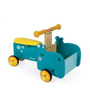 Детский толокар каталка на колесах, Гипоптам, Janod