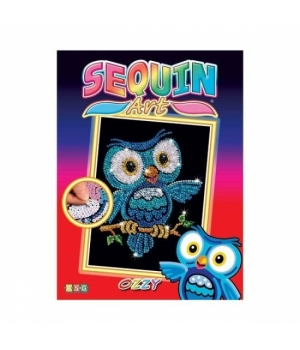 Картина из блесток для детей набор для детского творчества Сова Sequin Art