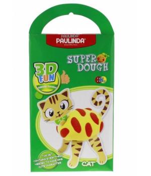 PAULINDA Маса для ліплення Super Dough 3D FUN Кіт