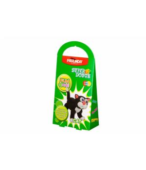 Детская масса для лепки Super Dough Fun4one Кот (подвижные глазки), PAULINDA