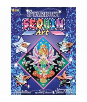 Картина пайетками для детей набор для детского творчества Фея Sequin Art