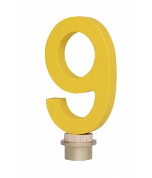 Цифра для торта 9, деревянная, nic