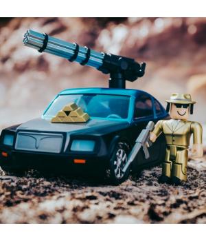 Игровая коллекционная фигурка Роблокс Побег из тюрьмы на автомобиле, Jazwares