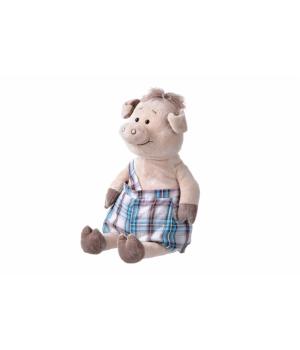 Мягкая игрушка свинка большая в комбинезоне (45 см) Same Toy