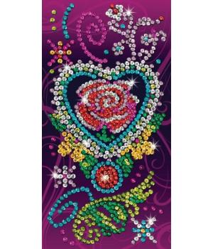 Картина из пайеток набор для творчества Craft Teen Rose Sequin Art