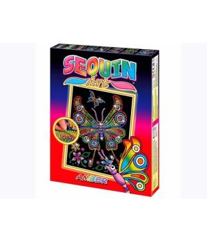 Картины из блесток для детей набор для детского творчества Бабочка Sequin Art