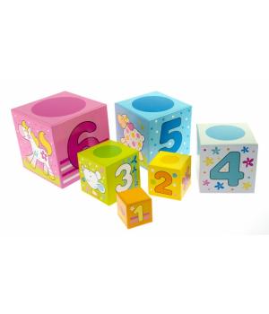 Кубики детские картонные, goki