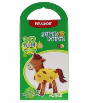 PAULINDA Маса для ліплення Super Dough 3D FUN Кінь